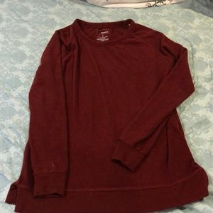 maroon soft shirt